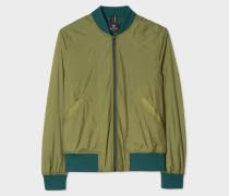 Green Lightweight Micro-Ripstop Bomber Jacket