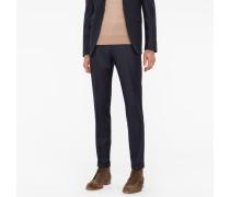 Slim-Fit Dark Navy Wool-Cashmere Trousers