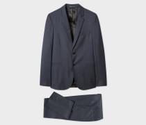 Slim-Fit Navy Pin-Dot Wool Suit