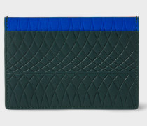 No.9 - Dark Green Leather Card Holder With Multi-Coloured Card Slots