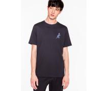 Navy 'Dino' Print Cotton T-Shirt