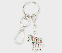 Multi-Coloured 'Zebra' Keyring