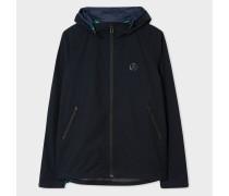 Dark Navy Water Resistant 'Primeflex™' Stretch Hooded Jacket