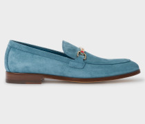 Light Blue Suede 'Grover' Loafers
