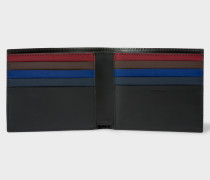 Black Colour Band Interior Leather Billfold Wallet
