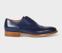 Dark Navy Leather 'Bertie' Brogues