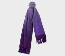 Violet Ombré Lambswool And Cashmere Scarf