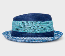 Blue Mixed-Braided Section Hat