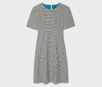 'Dogtooth' Cotton Shift Dress