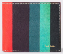 Leather 'Artist Stripe' Billfold And Coin Wallet