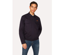 Navy Stretch-Cotton Patch-Pocket Jacket With 'Octopus' Embroidery