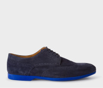 Navy Suede 'Ryan' Brogues With Travel Soles