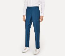 Slim-Fit Dark Teal Wool Trousers