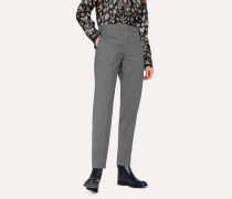 A Suit To Travel In -  Classic-Fit Grey Marl Wool Trousers