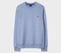 Sky Blue Organic-Cotton Zebra Logo Sweatshirt