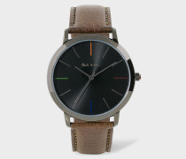 Metallic Black And Brown 'Ma' Watch