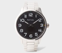 Black And Stainless Steel 'Tempo' Watch