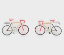 Multi-Colour Bike Cufflinks