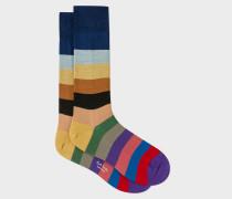 Multi-Coloured Striped Socks