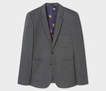 Slim-Fit Grey Jersey-Cotton Buggy-Lined Blazer
