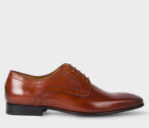 Tan Calf Leather 'Roth' Derby Shoes
