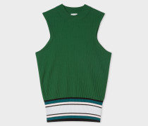 Green Knitted Sleeveless Top