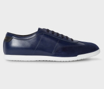 Dark Navy Leather 'Holzer' Trainers
