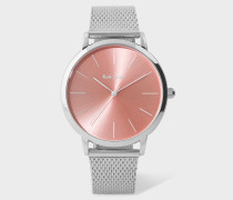 Special Edition 38mm Light Pink And Stainless Steel 'Ma' Watch