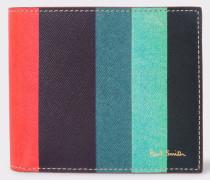Leather 'Artist Stripe' Print Billfold Wallet