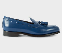 Blue Leather 'Simmons' Tasseled Loafers