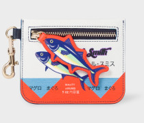 'Tuna' Print Leather Small Zip-Pouch