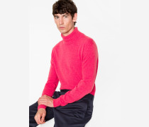 Pink Cashmere Roll Neck Sweater