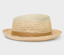 Beige Mixed-Braided Section Hat