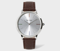 Unisex White And Brown 'Ma' Watch