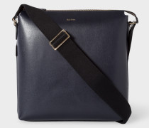 Navy Leather 'New City' Small Cross-Body Bag