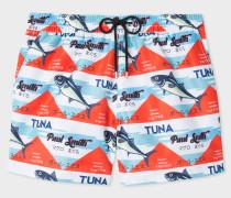 'Tuna' Print Swim Shorts