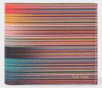 Mixed-Stripe Leather Billfold Wallet