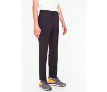 Mid-Fit Navy Wool-Blend Cycling Suit Trousers