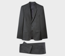 Mid-Fit Charcoal Grey Pinstripe Suit