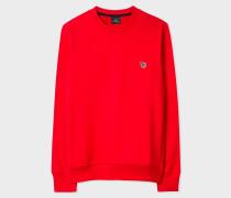 Red Organic-Cotton Zebra Logo Sweatshirt