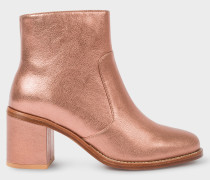 Metallic Copper Leather 'Luna' Boots