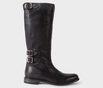 Black Leather 'Kings' Boots
