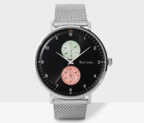 Black And Silver 'Track' Watch