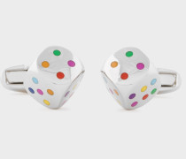 Multi-Colour Dice Cufflinks