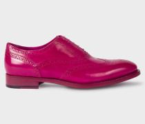 Fuchsia Parma Calf Leather 'Cristo' Brogues