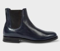 Navy Calf Leather 'Camaro' Chelsea Boots