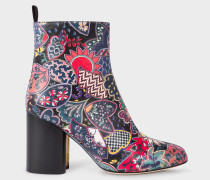 'Oriental Floral' Leather 'Egan' Boots