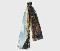 London Photo-Print Silk Scarf