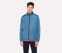 Blue Water-Resistant Packable Harrington Jacket