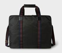 Black Webbing Stripe Suit Carrier